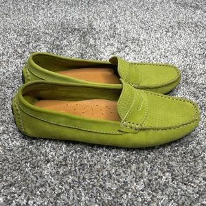 Mercanti Florentini Green Leather Loafers | 6.5